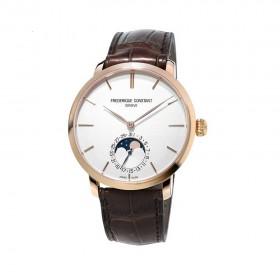 Manufacture Slim Line Moonshape Silver Dial Men's Watch