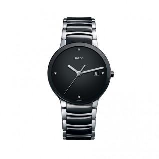 Centrix Quartz Black Dial Men's Watch