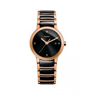 Centrix Rose Gold/Black Ladies Watch