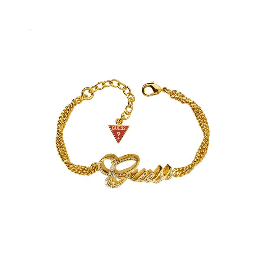 Bracelet GLITTER LOGO GOLD 20.3 см UBB81322 - Bracelets - Guess - Jewellery  - Giulian f58b242aeec